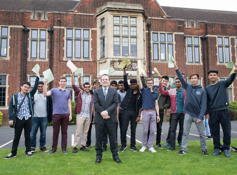 """""""Superb"""" A-level results a testament to pupils' character"""