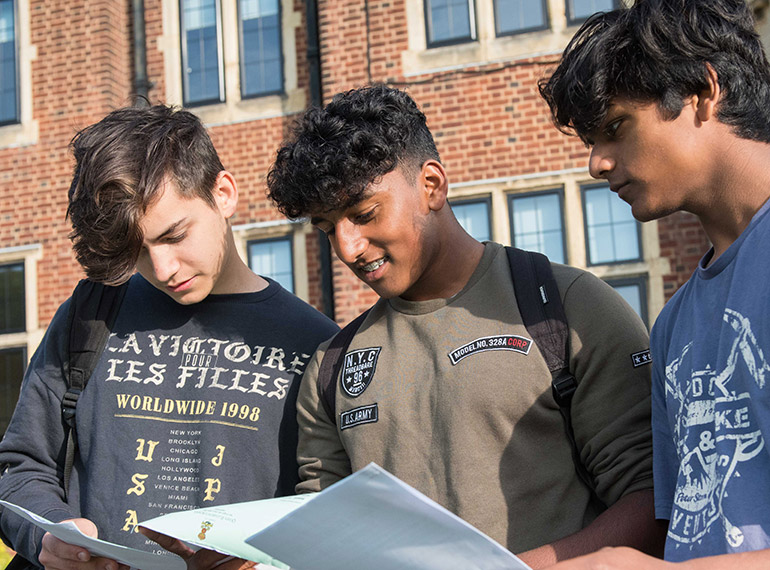 Boys take new GCSE grading system in their stride