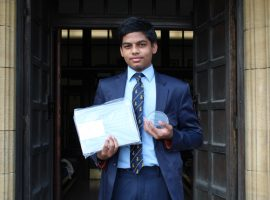 A winner again! Ashwin scores success for QE in global technology competition