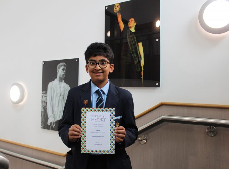 """From phantoms to whimsy – Rishi """"beats QE's poetic drum"""" in national competition"""