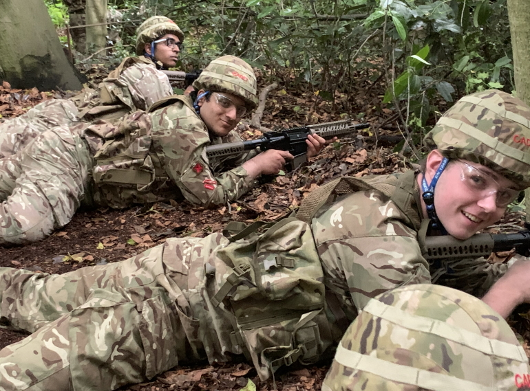 Back in action! QE's cadets on exercise at last