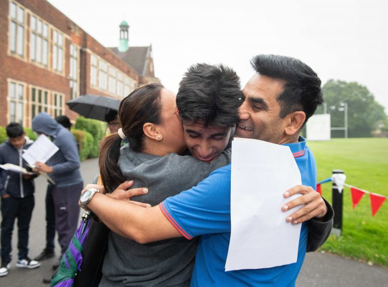 Unwavering determination: QE boys reap the rewards of staying focused in tough times with a superb set of GCSE results