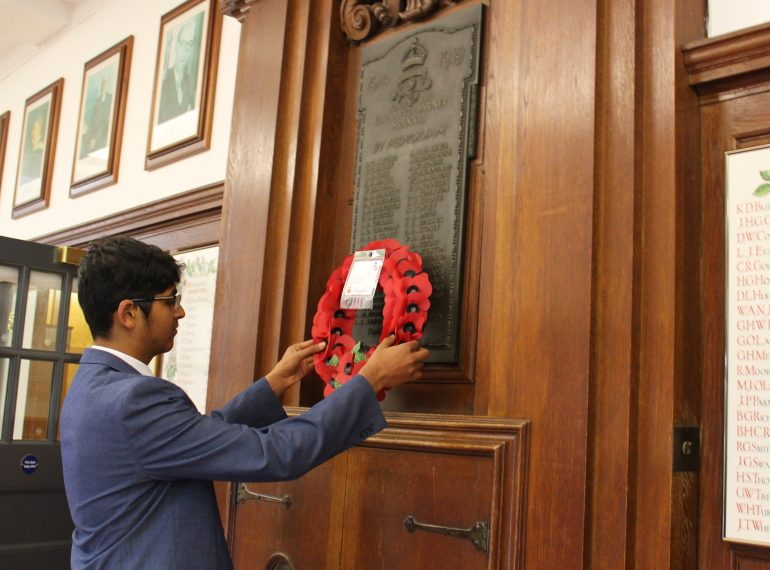 """""""In proud and loving memory"""": centenary ceremony remembers QE's war dead"""